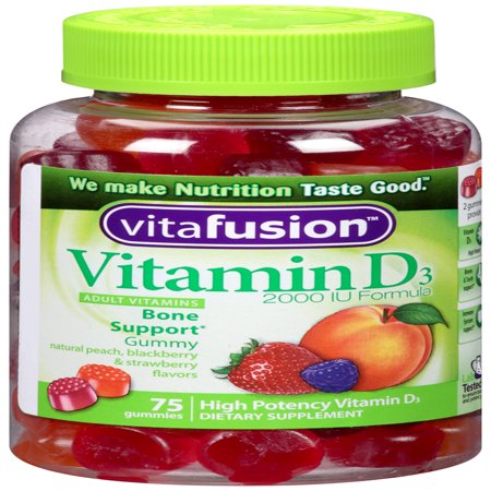 Vitafusion Vitamin D3 Gummy Vitamins, 75ct
