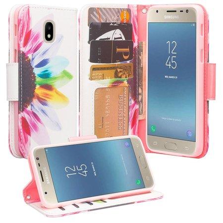 Protective Wallet Case for Samsung Galaxy J7 2018,J7v 2nd Gen,J7 Star,J7 Refine,J7 Crown Case [Wrist Strap] Cute Girls Women Glitter Faux Leather Flip [Kickstand] Cover Clutch - Sun Flower](Cheap Cute Wallets)