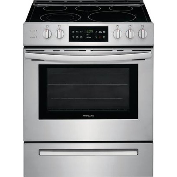 Frigidaire FFEH3054US, Glass Cooktop, Silver