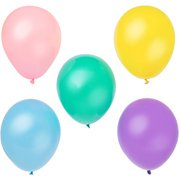 Pearlized Latex Balloons, 12 in, Pastel, 72ct