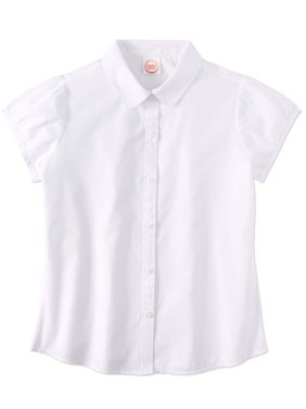 Girls School Uniform Short Sleeve Poplin Blouse