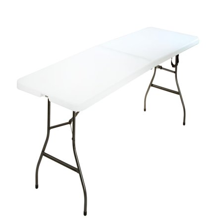 Cosco 8 Foot Centerfold Folding Table, White ()