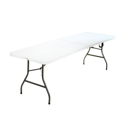Cosco 8 Foot Centerfold Folding Table, White