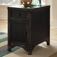 Signature Design By Ashley Gavelston Black Chair Side End Table