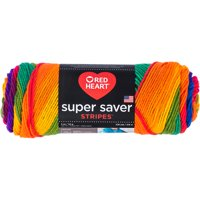 Red Heart Super Saver Yarn-Favorite Stripe