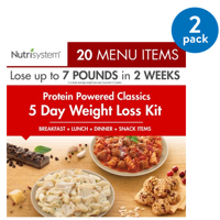 Nutrisystem 5 Day Protein Powered Jumpstart Weight Loss Kit, 3.9 lbs, 15 Meals and 5 Snacks