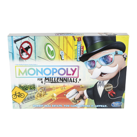 Monopoly for Millennials Board Game Ages 8+ - Games For 8 Year Old