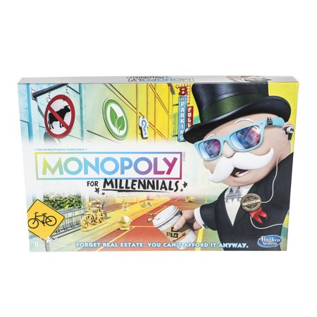 Monopoly for Millennials Board Game Ages 8+ (Dog Monopoly Board Game)
