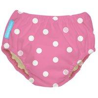 Charlie Banana Small Reusable Swim Diaper, Big Polka Dots Baby Pink