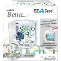 Marina Betta EZ Care 0.5-Gallon Aquarium Starter Kit, White