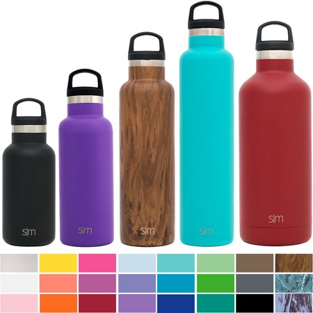 Mouth Environmental Sample Bottle - Simple Modern Ascent Water Bottle - Narrow Mouth, Vacuum Insulated, 18/8 Stainless Steel - 5 Sizes, 30+ Colors
