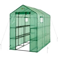 Ogrow Extra Large Heavy-Duty Walk-In 2-Tier 12-Shelf Portable Lawn and Garden Greenhouse