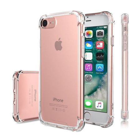 For Apple iPhone Premium Crystal Clear TPU Bumper Case For iPhone: 8 -