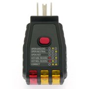 electrical outlet receptacle tester faulty wall plug wire finder gfci  circuit, wennow electrical outlet receptacle