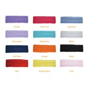 12pcs Women Men Cotton Sweatband Headband Stretch Head For Sport Sweat 2839f5839d6