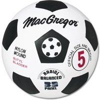 MacGregor® Black and White Rubber Soccer Ball, Size 5