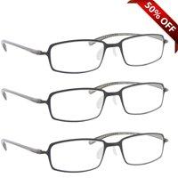 Reading Glasses +1.50 | 3 Pack of Readers for Men and Women | 3 Gray