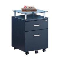 Vetro Rolling File Cabinet, Graphite