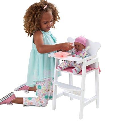 KidKraft Lil' Doll High Chair Doll Cradle High Chair