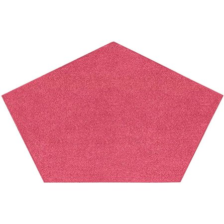 Bright House Solid Color Area Rugs Pink - 5' Pentagon