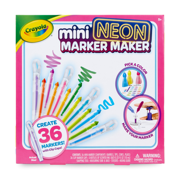 Crayola Mini Neon Marker Maker, 36 Scented Markers, Gift for Kids, Ages 6, 7, 8, 9
