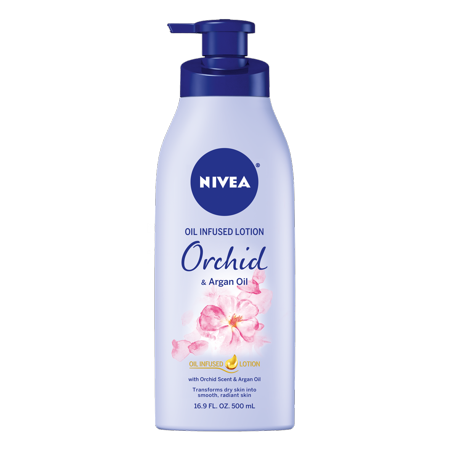- NIVEA Oil Infused Body Lotion Orchid and Argan Oil, 16.9 Fluid Ounce