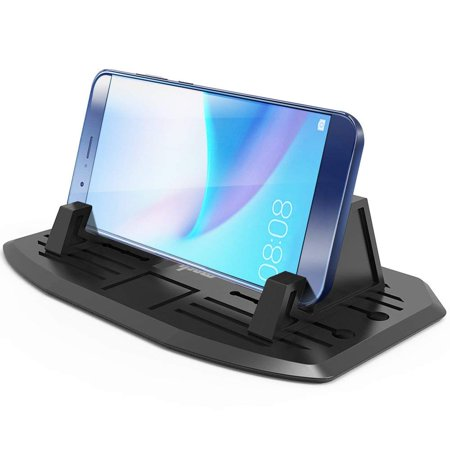 IPOW Dashboard Phone Holder Universal Car Dash Cell Phone Mount Holder Silicone Stand Dock Cradle for Smartphone iPhone, Samsung Galaxy, HTC, LG, Note, Nexus