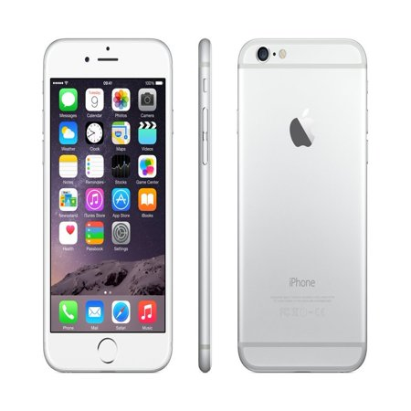 iPhone 6 64GB Silver (Virgin Mobile) Refurbished Grade (Iphone 5 64gb Silver Price In India)