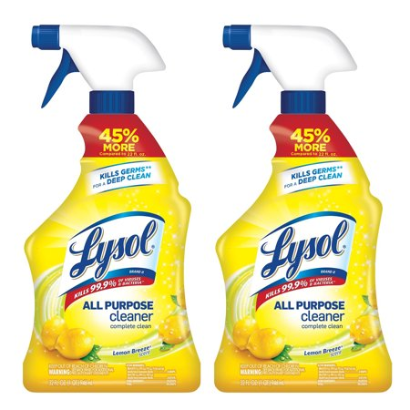 Lysol All Purpose Cleaner Spray, Lemon Breeze, 64oz (Purpose Disinfectant)
