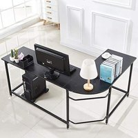 Ktaxon L-Shaped Computer Desk Corner PC Latop Table Study Office Workstation Black