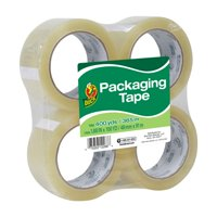Duck Standard Packaging Tape, 1.88 in. x 100 yd., Clear, 4-Count
