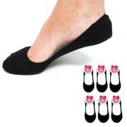 6 Pairs Black Womens Ladies No Show Foot Cover Footies Liner Low Cut Socks