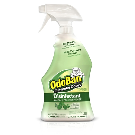 OdoBan Original Eucalyptus Scent Disinfectant Fabric & Air Freshener, 27 fl (Original Scent 19 Oz Aerosol)