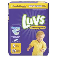 Luvs Ultra Leakguards Diapers Size 5 19 count