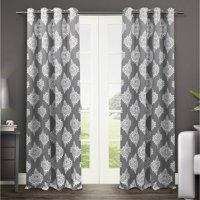 Exclusive Home Curtains 2 Pack Medallion Blackout Grommet Top Curtain Panels