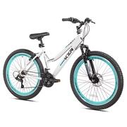 "Kent 26"" Women's, KZR Mountain Bike, White/Teal"