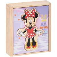 Melissa & Doug Disney Minnie Mouse Wooden Mix and Match Dress-Up