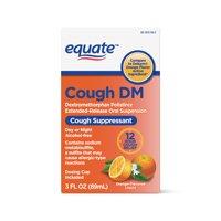Equate Cough DM, Cough Suppressant, Orange Flavored, 3 Fl Oz