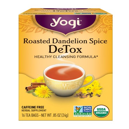 (2 Boxes) Yogi Tea, Roasted Dandelion Spice DeTox Tea, Tea Bags, 16 Ct, .85OZ