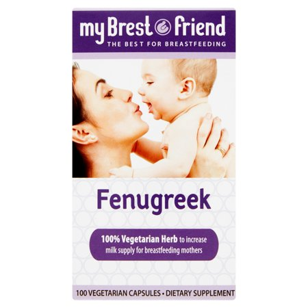 My Brest Friend Fenugreek, 100 Vegetarian Capsules by My Brest -