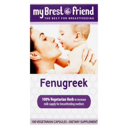 My Brest Friend Fenugreek, 100 Vegetarian Capsules by My Brest