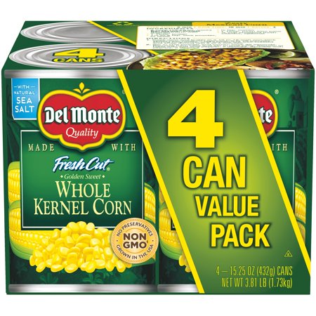 (8 Cans) Del Monte Fresh Cut Golden Sweet Whole Kernel Corn, 15.25 oz