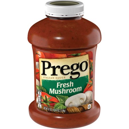 Mushroom Pasta Sauce - Prego Pasta Sauce, Italian Tomato Sauce with Fresh Mushrooms, 67 Ounce Jar