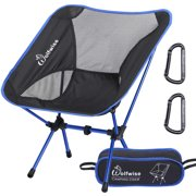 Wolfwise Portable Camping Chairs Lightweight Compact Backng Chair Picnic Fishing Seat With Carry Bag