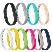 10 PACK Fitbit Flex 2 Bands Replacement Wristband Accessories Classic TPU Material Sport Strap for 2016 Fitbit Flex 2 Fitness tracker(Small)