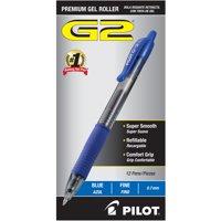 Pilot G2 Retractable Gel Ink Rollerball Pens, 1 Dozen (Quantity)