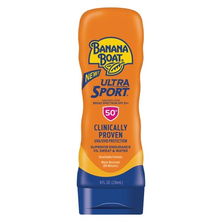 Banana Boat Ultra Sport Sunscreen Lotion SPF 50+, 8 (Best Equate Banana Boat Lotion For Kids)