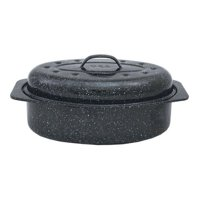 """COLUMBIAN HOME PRODUCTS 0508-6 15"""" Black Oval Roaster"""