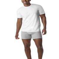 Men's Fresh IQ White Crew Neck T-Shirt 6 Free Bonus Pack
