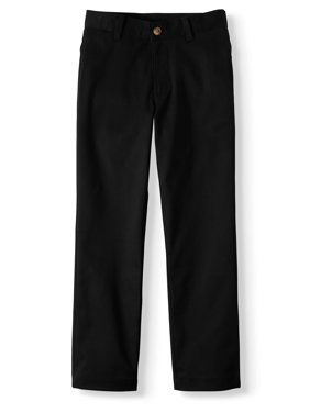 Boys Husky School Uniform Super Stretch Soft Flat Front Pants